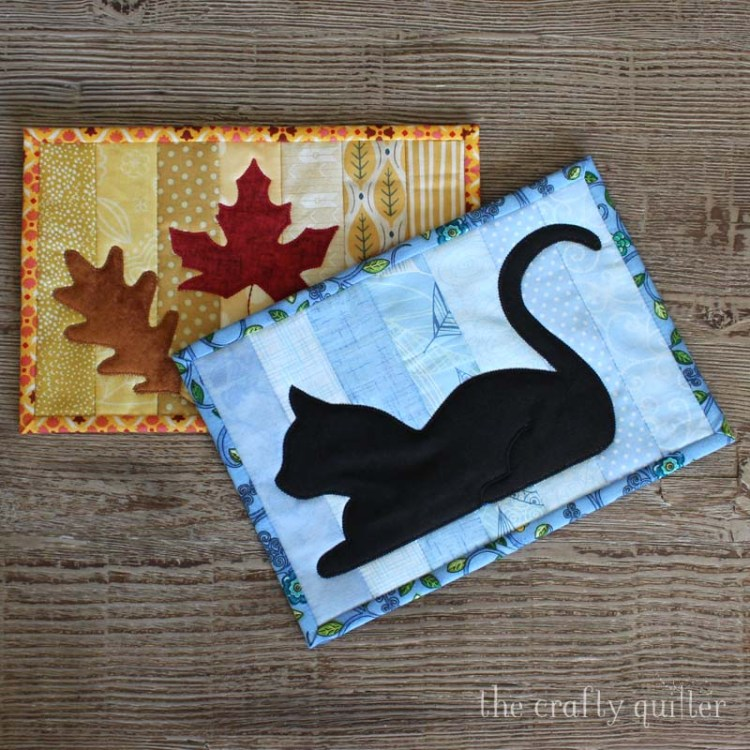 Quilt As You Go Mug Rug Tutorial (with applique) @ The Crafty Quilter