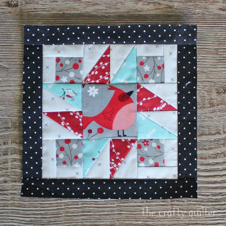 Happy Little Things BOM Block 4 made by Julie Cefalu and Designed by Jacquelyne Steves.