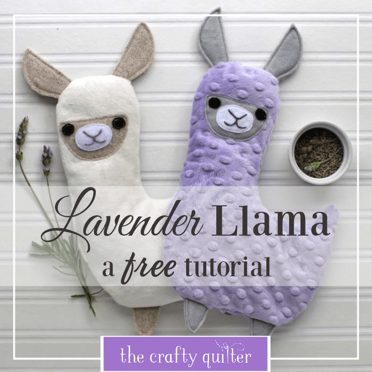 Sewing tutorial: Lavender Llama hot or cold pack