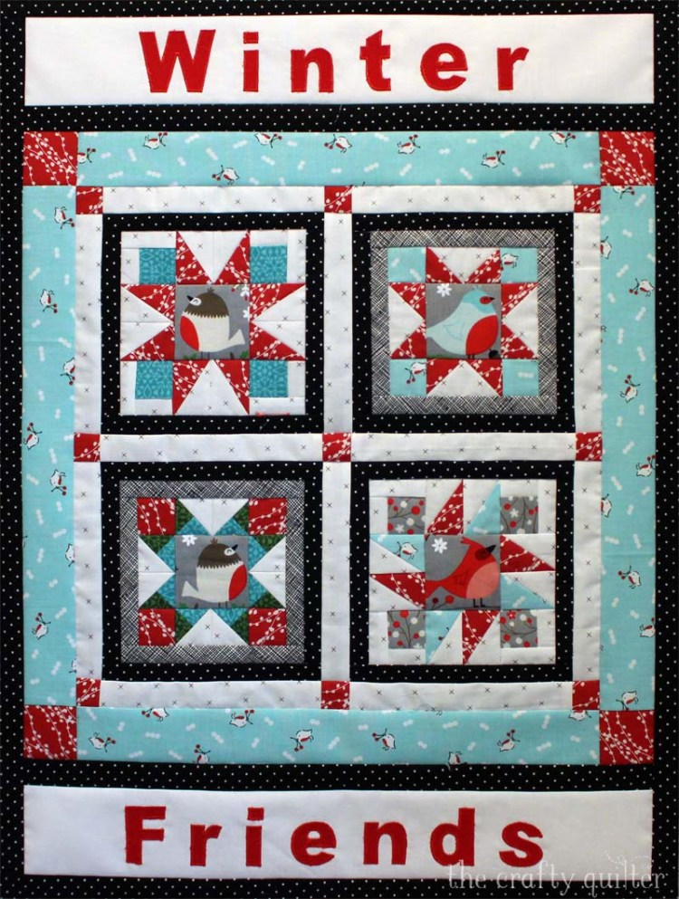 """Happy Little Things BOM designed by Jacquelynne Steves.  """"Winter Friends"""" mini edition made by Julie Cefalu."""