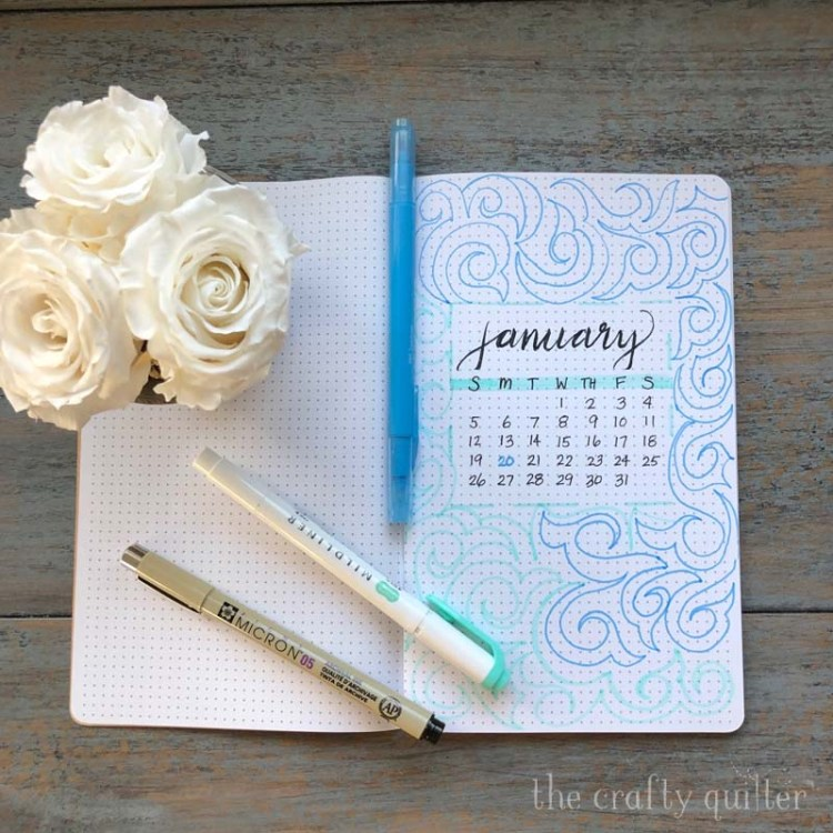 Hand lettering and bullet journal with Let's Make Art - made by Julie Cefalu @ The Crafty Quilter