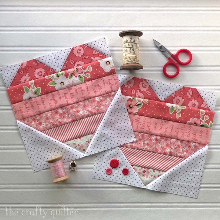 Two blocks from my new Ombre Love Quilt Pattern @ The Crafty Quilter