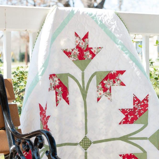 Carolina Lily Quilt kit available at Fat Quarter Shop
