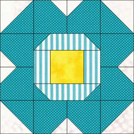 Simplified version of the Blossom Quilt Block @ The Crafty Quilter