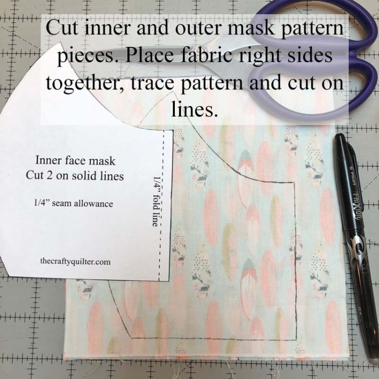 Versatile Face Mask Pattern and tutorial by Julie Cefalu @ The Crafty Quilter