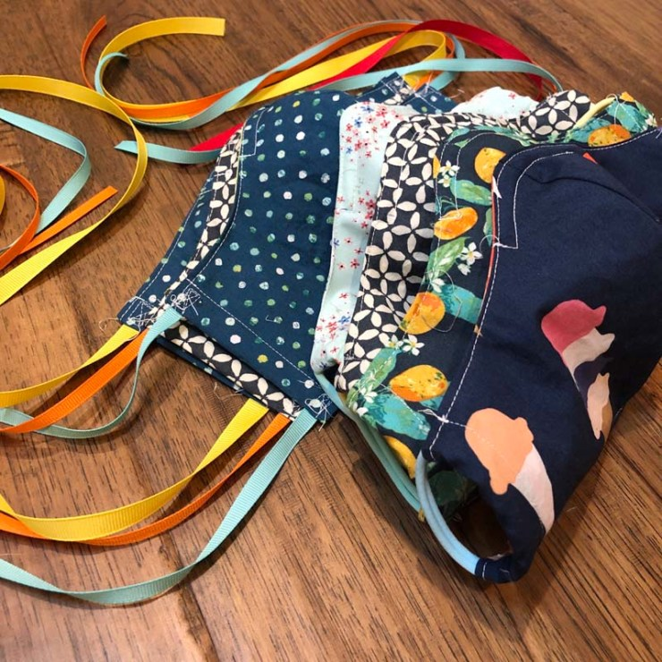 Versatile Face Masks using a pattern by Julie Cefalu @ The Crafty Quilter.