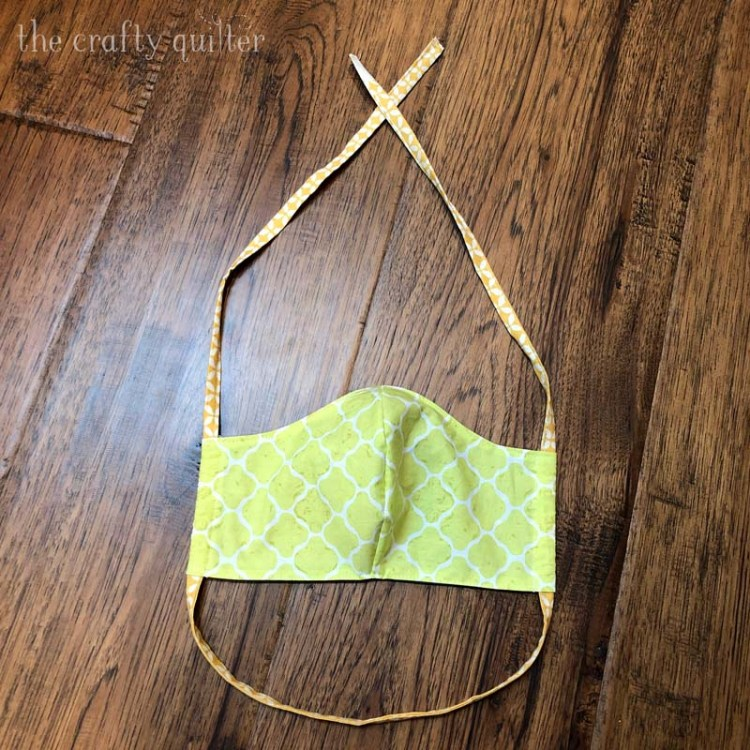 Some face mask pattern updates @ The Crafty Quilter include different ways to use and make ties.