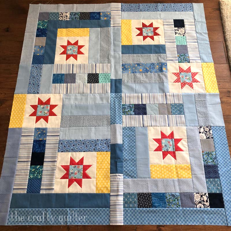 Quilt top made from The Kindness Project Sew Along.