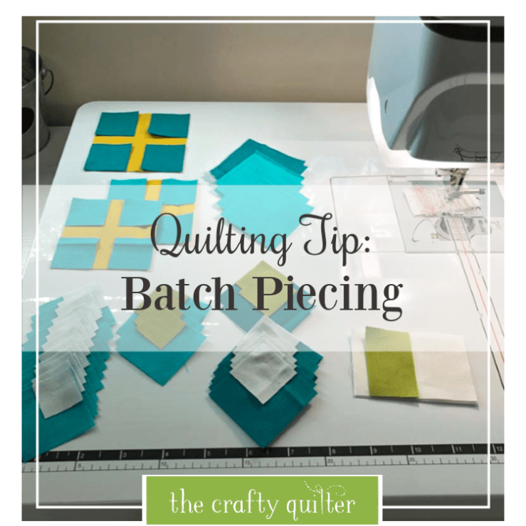 Quilting Tip:  Batch piecing @ The Crafty Quilter.  Julie shows you how this can make your quilts come together so much faster and efficiently!