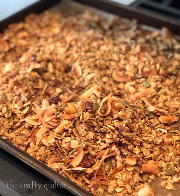 My Maple Pecan Granola Recipe is super quick and easy to make.  It has just the right amount of sweetness and crunch and it's very customizable!