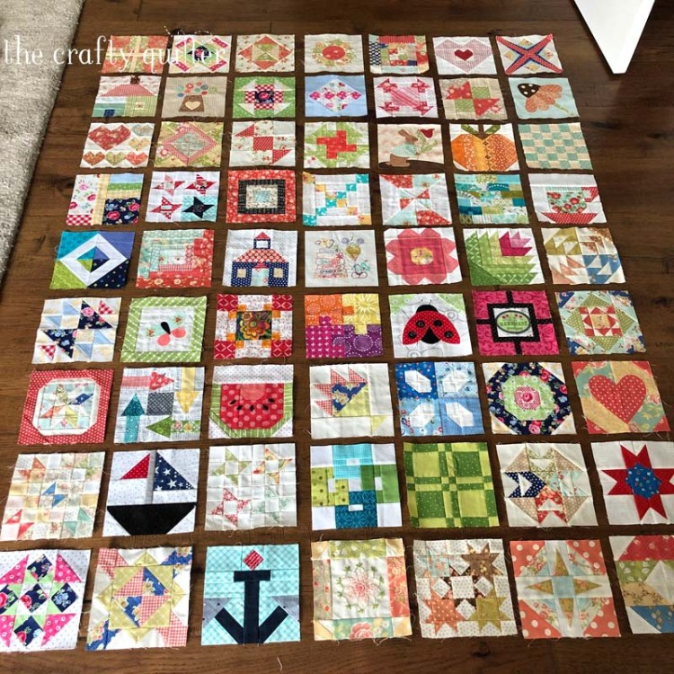 Projects and UFO's and cooking at The Crafty Quilter include these Splendid Sampler quilt blocks combined with The Patchsmith's Sampler quilt blocks.