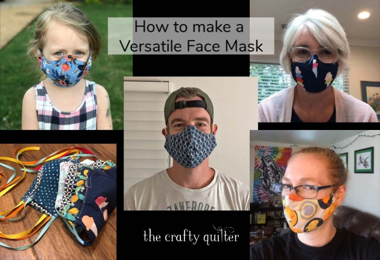 Versatile Face Mask Video walks you through all of the steps to make my versatile face mask pattern.
