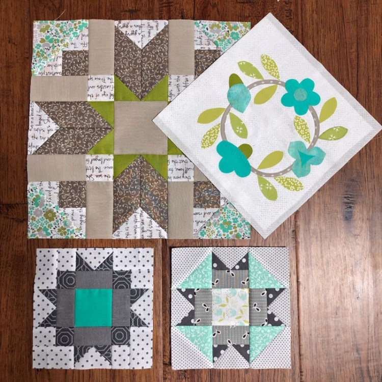 Blocks from the Timeless Tradition BOM by Bits 'n Pieces.  Made by Julie Cefalu.