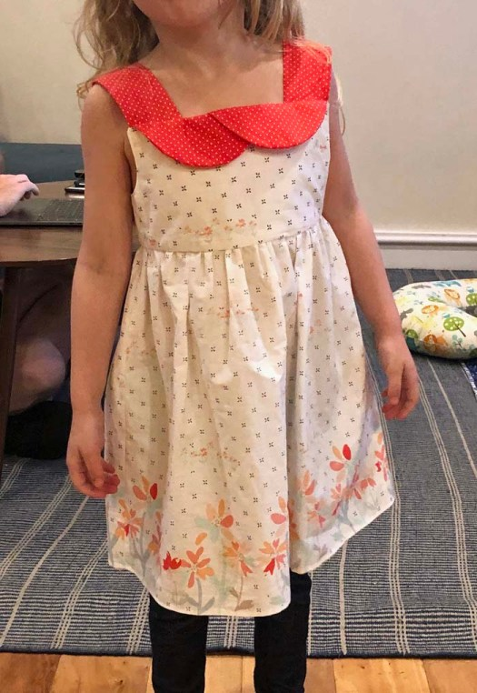 A few sewing gifts include this sweet dress for my granddaughter.  New Look pattern S0186