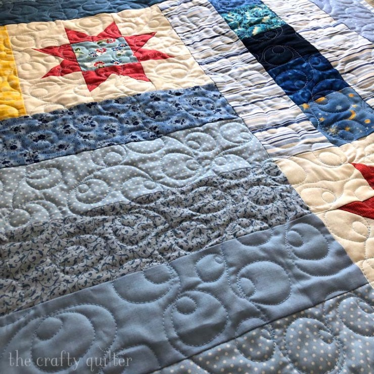 Quilt made by Julie Cefalu.  Designed by Terri of Sweet Treasures Quilting for her Kindness Project on Instagram.
