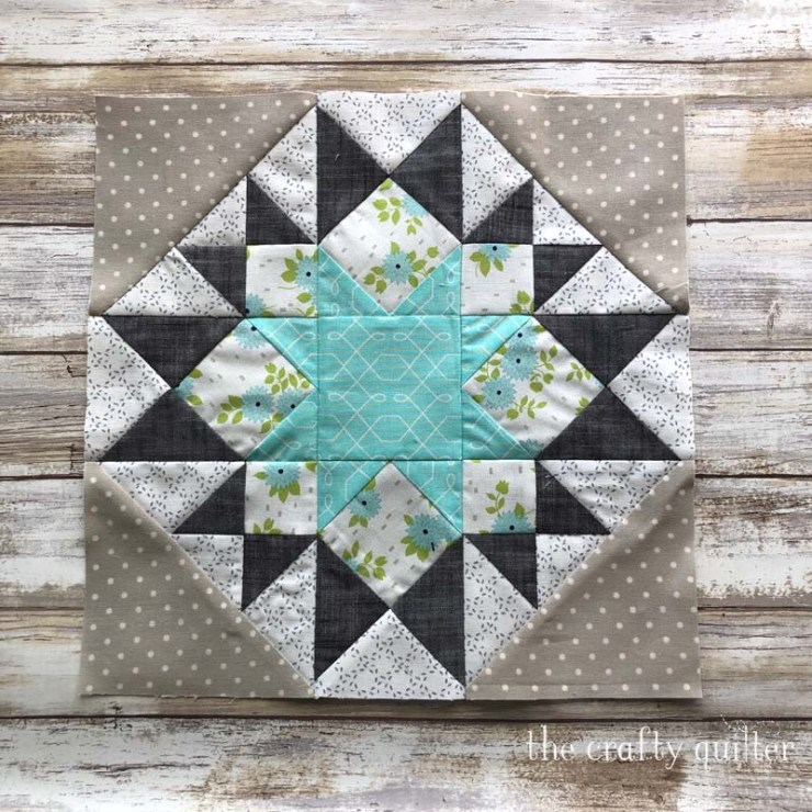 "Covid quilting includes this 12"" block from the Timeless Tradition BOM."
