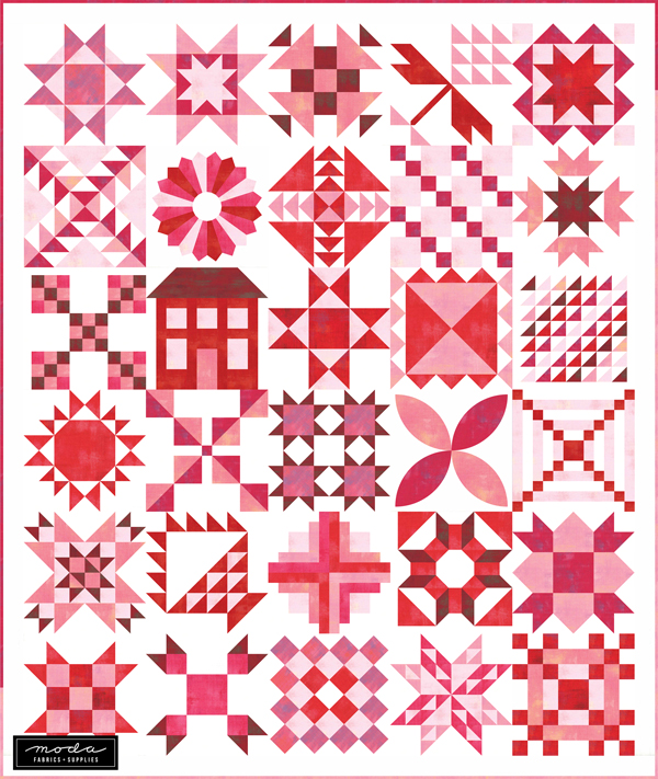 My new project is the Stitch Pink 2020 Sew Along with Moda Fabrics.