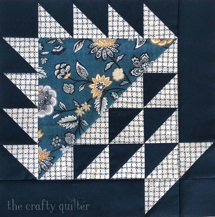 Basket block made by Julie Cefalu @ The Crafty Quilter.  Pattern design by Moda Fabrics for their Stitch Pink Sew Along.