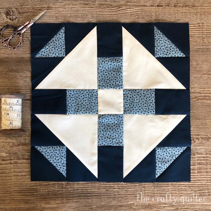 Block 3 of the Stitch Pink Sew Along from Moda, made by Julie Cefalu @ The Crafty Quilter.