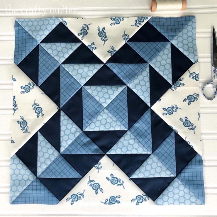 Block 6 of the Stitch Pink Sew Along from Moda, made by Julie Cefalu @ The Crafty Quilter.
