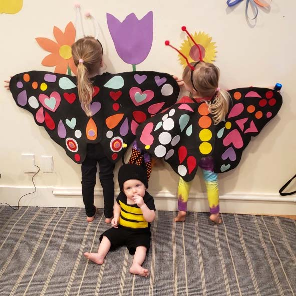 Halloween pollinators.  Costumes made by Kelly Cutbirth.