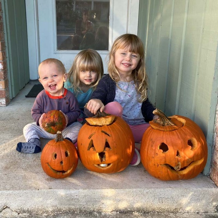 Benjamin, Clara and Amelia are three little pumpkins in my eyes!