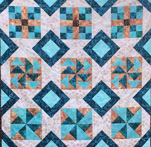 Possibilities Quilt Pattern designed and made by Julie Cefalu @ The Crafty Quilter