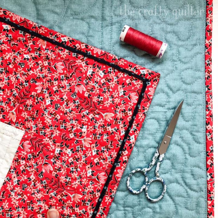 Flange binding is a great accent to your quilt's edge!