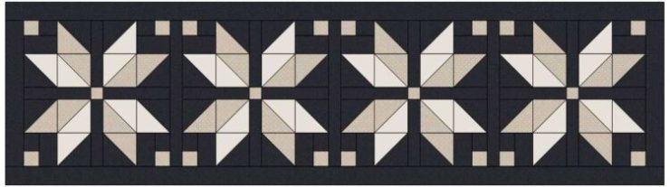 Nordic Star Table Runner Pattern by Julie Cefalu at The Crafty Quilter