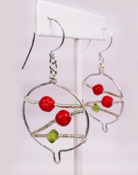 Christmas Advent: Tree Pendant and Christmas Ball Earrings ...