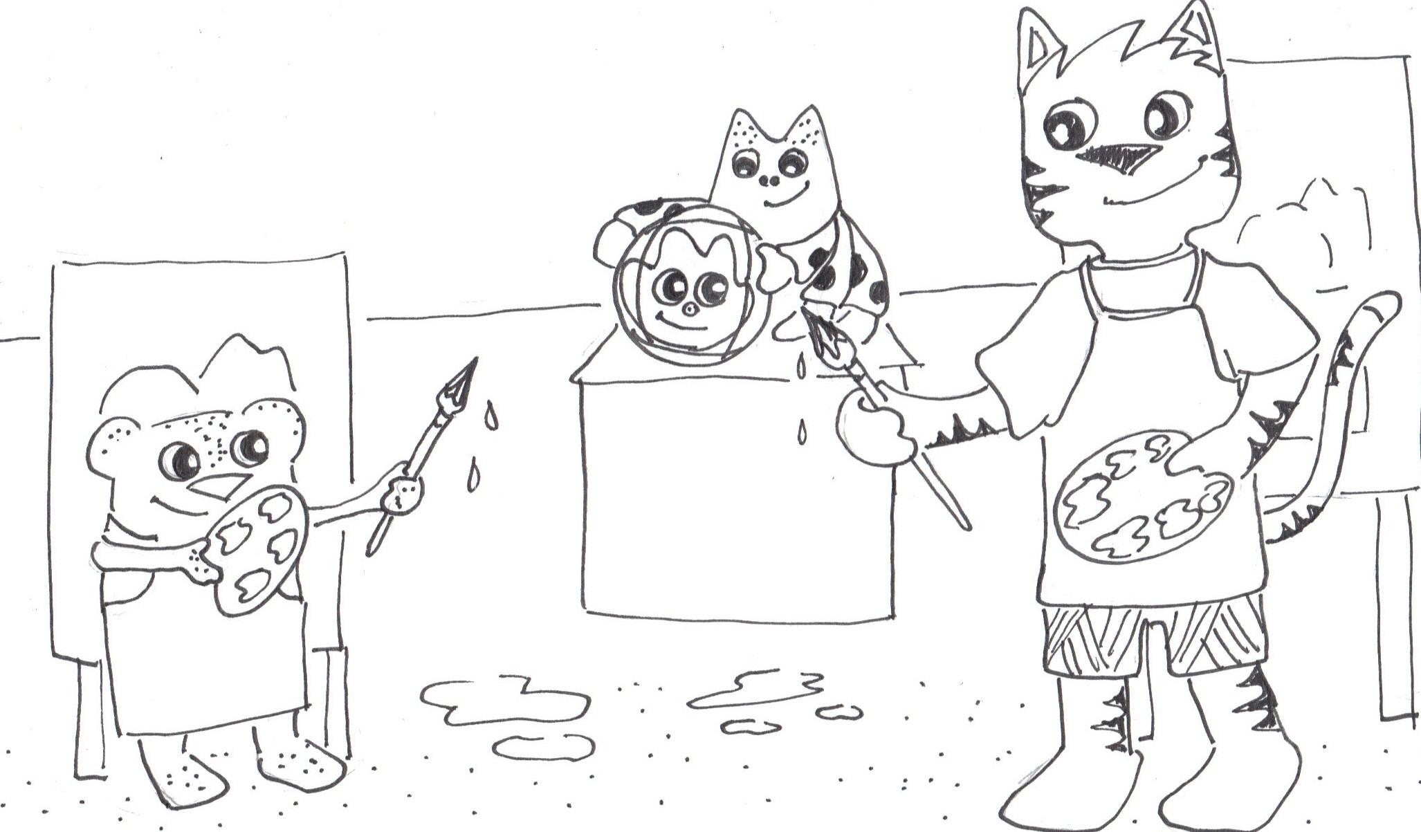 Art Class What A Cat
