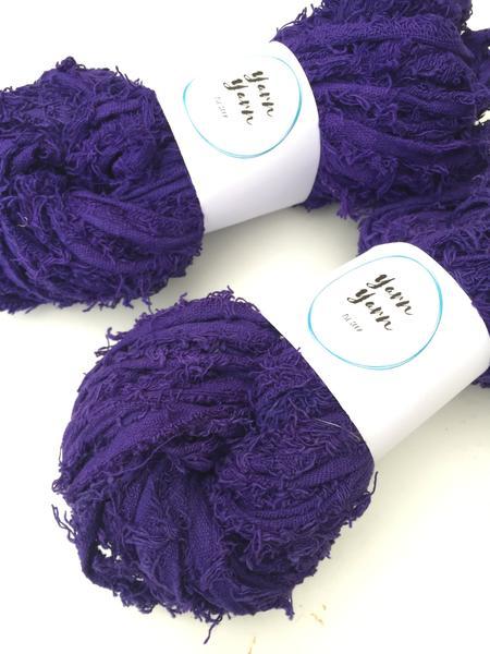 Recycled Sari Cotton recycled yarn by Yarn Yarn