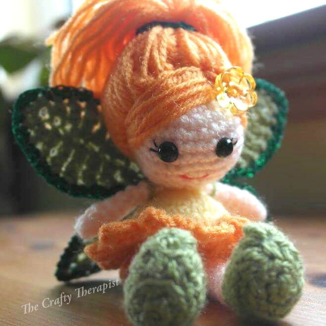 Crochet Calendula Fairy Doll