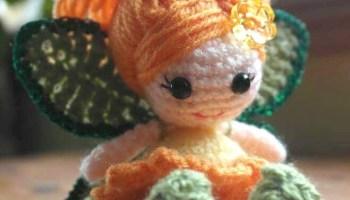 Crochet Calendula Fairy Doll