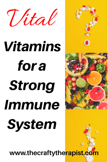Pinterest graphic Vitamins for your immune system