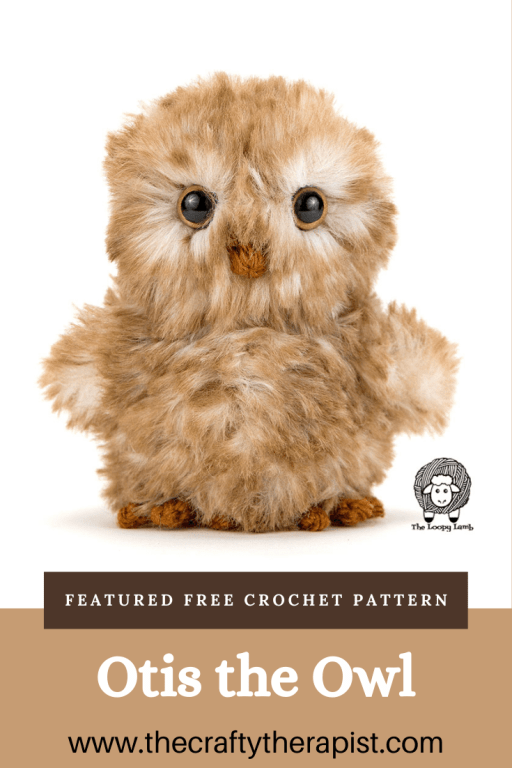 Pinterest pin for Otis the Owl free crochet pattern by The Loopy Lamb