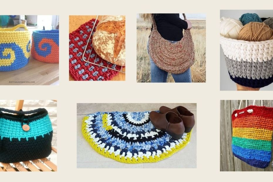 Blog post cover photo - collage eco crochet patterns