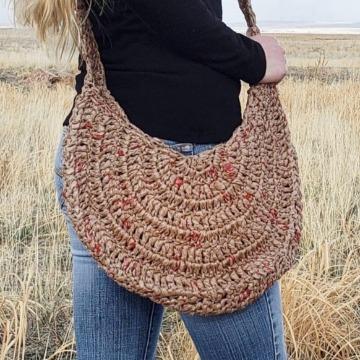 recycled plarn bag - eco crochet ideas