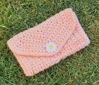 Daisy crochet Bag, peach Testers make