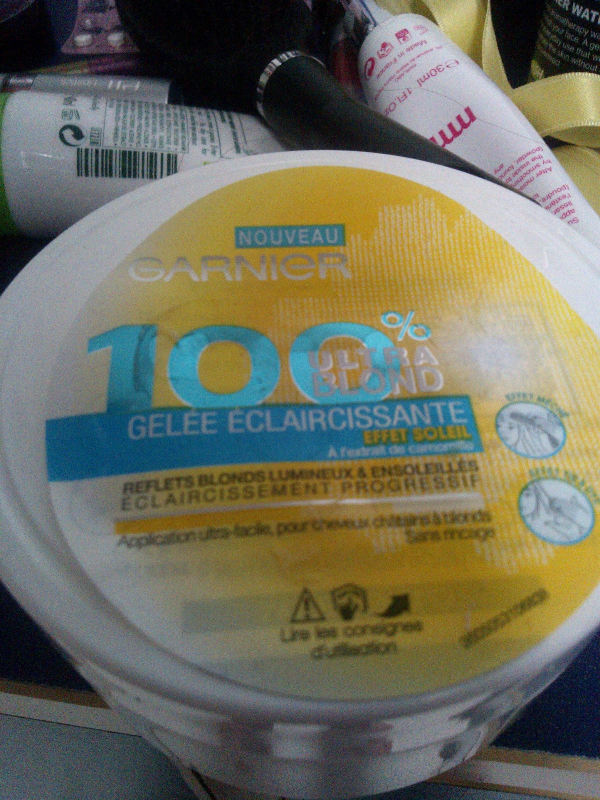 gele claircissante 100 blond de garnier - Super Eclaircissant Sur Cheveux Colores
