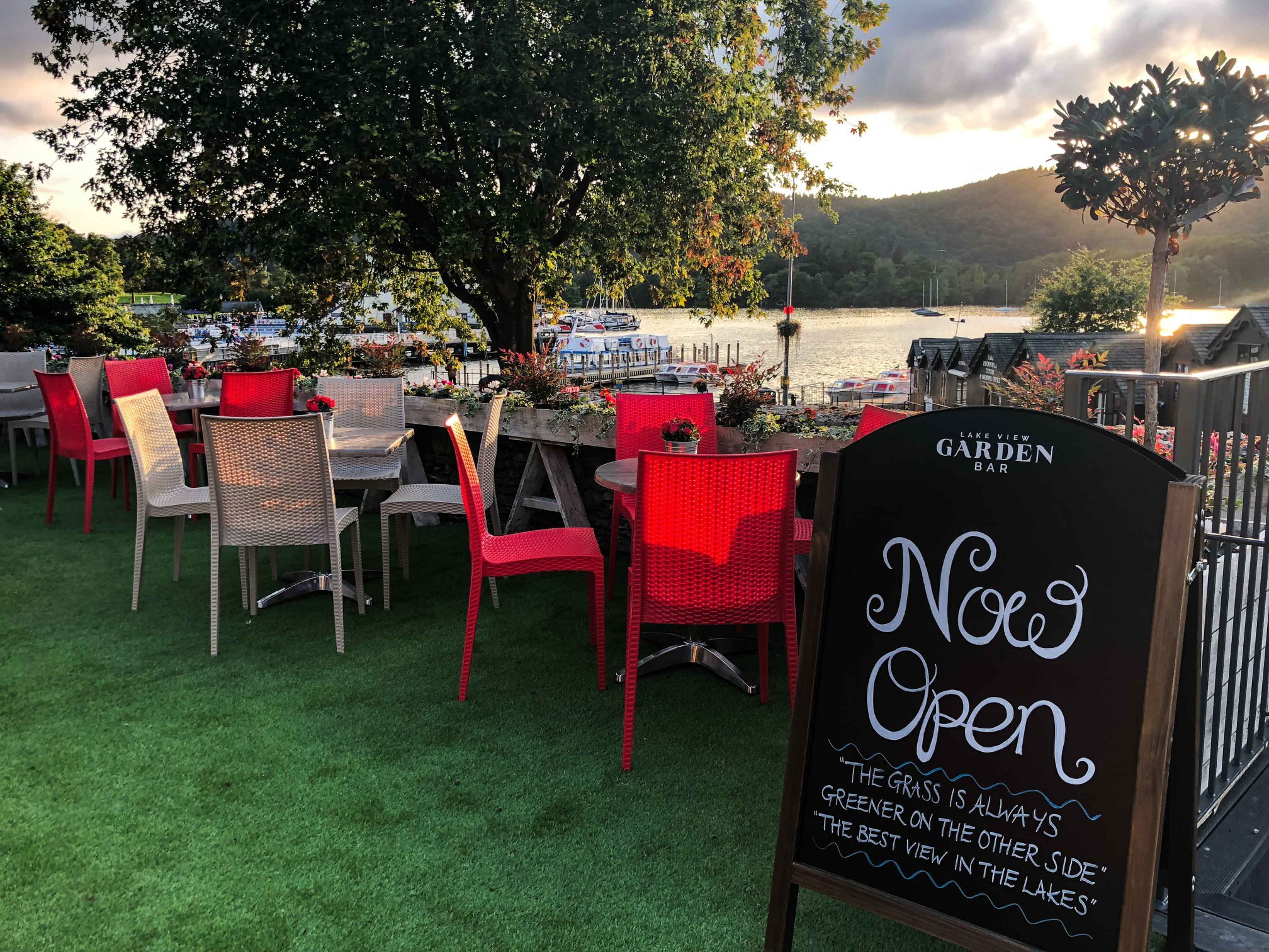 The Best View In The Lakes Lake View Garden Bar The Cranleigh Boutique Hotel