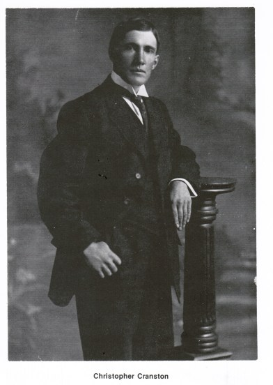 This is a photo of Christopher (Doc) Cranston taken in Galesburg, Illinois around 1898