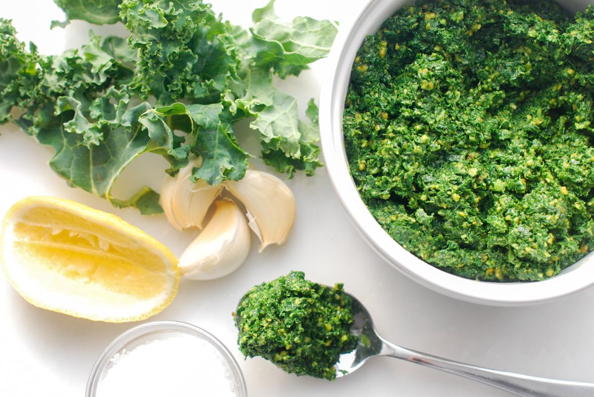 Kale and Pistachio Pesto