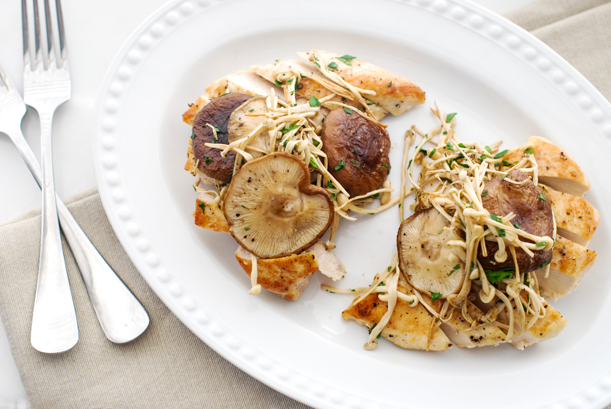 Easy Roasted Chicken and Mushrooms