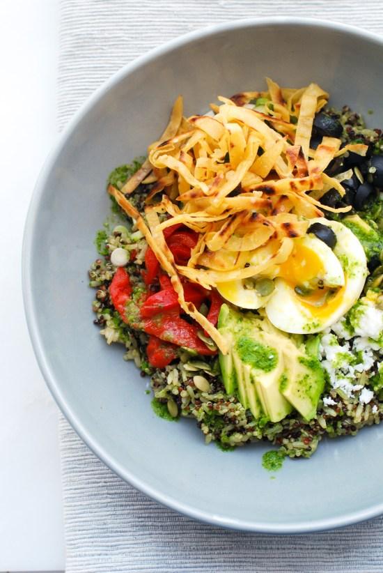 Southwest Quinoa-Rice Bowl