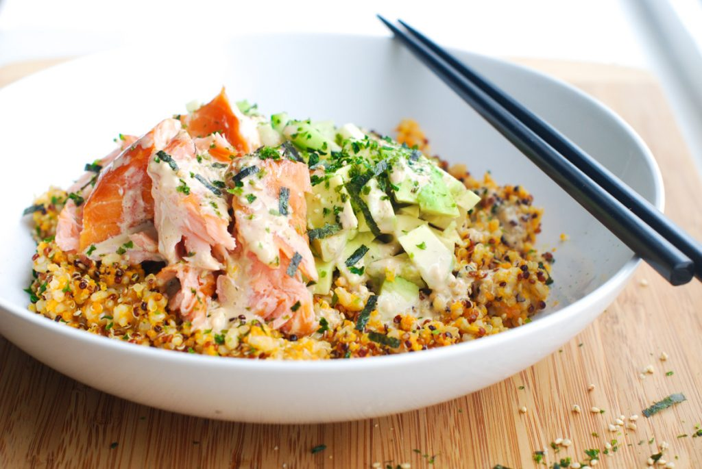 Salmon Roll Grain Bowl