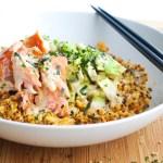 Salmon Roll Grain Bowl