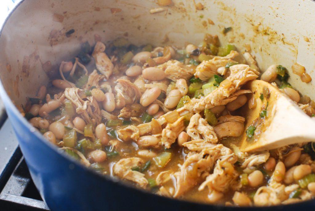 White Bean Chicken Chili Etouffee