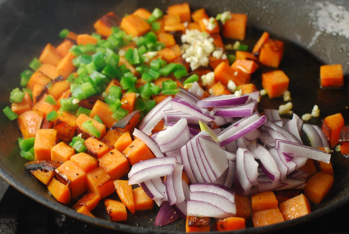 Kale and Sweet Potato Lentils