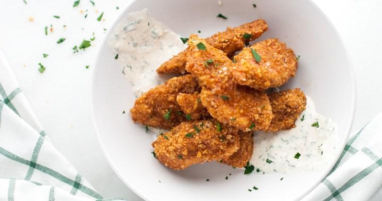 Chickpea Chicken & Buffalo-Honey-Mustard